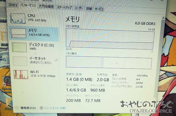 チョット古いパソコンをメモリー増設でまだまだ使えるパソコンに